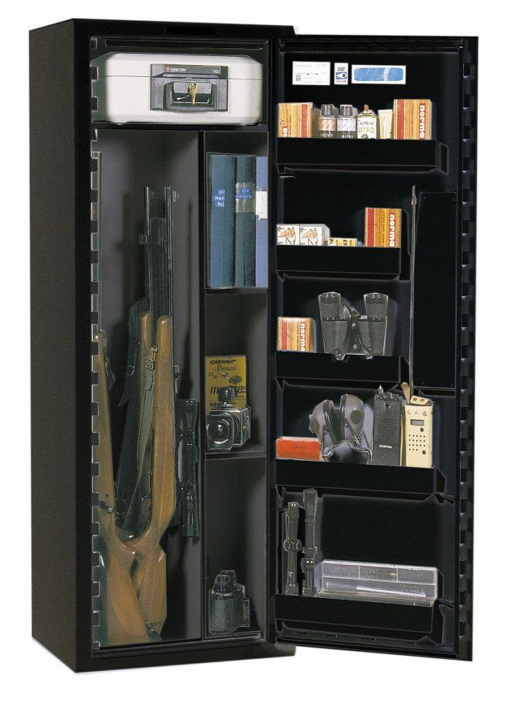 Vapenskåp Scandianavian Safe SP 88 Svart med kodlås + brandbox Ink frakt!